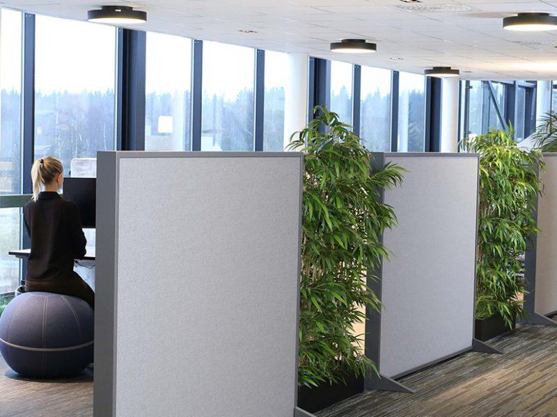 kantoorruimte tussenwand
