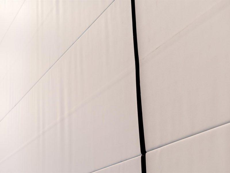 Akoestische scheidingswand closeup Triplecomfort Trenomat