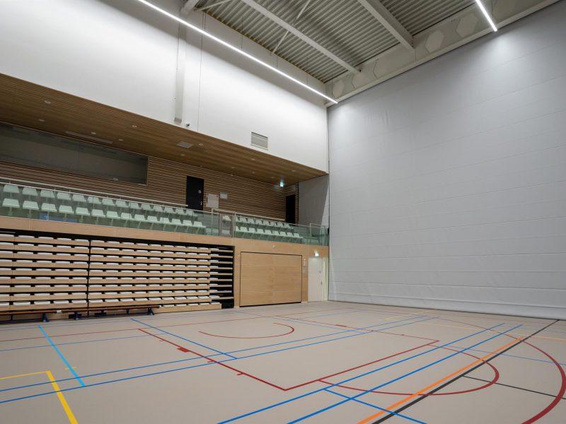 akoestische tussenwand sportzaal